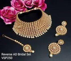 Gold Tithi Bridal Choker Necklace Set