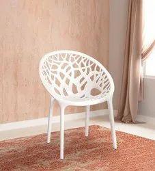 Neelkamal White Mesh Plastic Chair