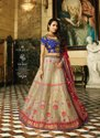 Designer Wedding Wear Heavy Embroidery Lehenga
