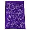 All Over Purple Fancy Design Cotton Bandhani Kurti