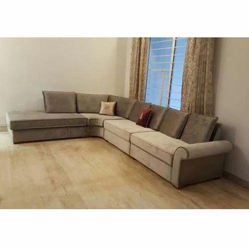 Wooden Modern L Shape Sofa Set Rs 4000 Running Feet Teak Elements Designs Id 20171472862