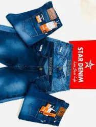 Ankle Length Casual Wear Star Denim Jeans, Age Group: Adult