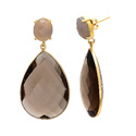 Trendy Hot Beautiful Loving Earring Birth Gemstone Gold Plated Modern Collection Earring