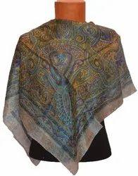 ROYAL SHAWLS Female Printed Silk Scarves