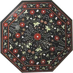 New Deigns Black Inlay Pietre Dure Mop Table Top