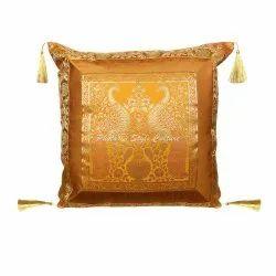 Jacquard Silk Tassel Cushion Cover