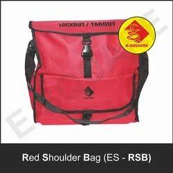 Red Shoulder Lockout Tagout Nylon Tool Kit Bag .