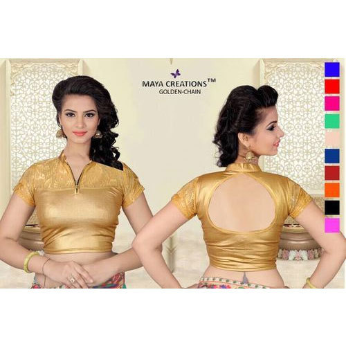 21afecbe568f47 Plain Velvet Golden Chain Blouse, Size: 32, 34 And 36, Rs 250 /piece ...
