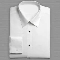 Mens Plain Collar Neck Cotton Full Sleeves Shirt