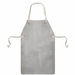 Plain Leather Safety Apron, Size: Free Size