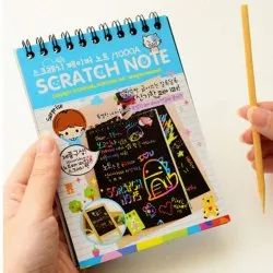 Black MOQMART Scratch Paper Diary, For Drawing, Size: 10 Cm X 14 Cm