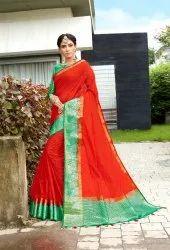 Ladies Linen Saree Length: 5.5m