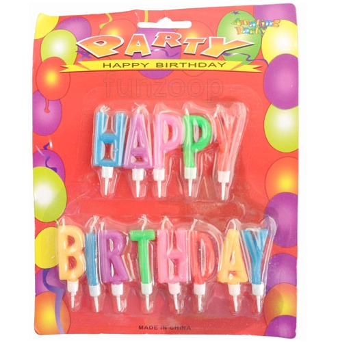 Multicolor Letters Birthday Candle