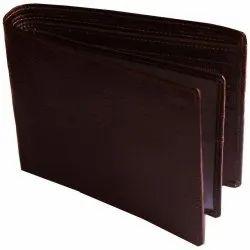 Brown Bi Fold Trendy Leather Wallet, Card Slots: 6