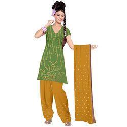Green Bandhani Fancy Suit