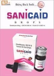 Sanicaid Simethicone Emulsion 40mg + Dill Oil 0.005ml + Fennel Oil Usp 0.0007ml, For Paediatric, 15ml