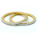 14K 6.50 Carat Real Diamond Yellow Gold Bangles