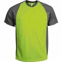 Plain Half Sleeves Mens Round Neck Polyester Sports T Shirts, Size: S-XXL, Packaging Type: Packet