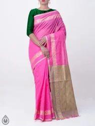 Unnati Silks Green Pure Handloom Mysore Jacquard Cotton Saree With Tassels, Jacquard Weaving