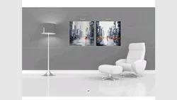 2 Pcs Canvas Print With Wooden Strecher Frame