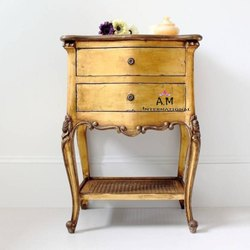 A.m international Modern antique wooden side table, Number Of Drawer: 2, Size: 21*21