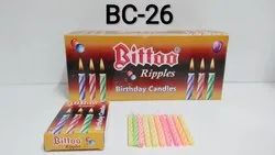 BC-26 Bittoo Ripple Birthday Candles BROWN BOX