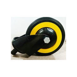 4 Inches Rubber Wheel Pillar Type, Size: 4 Inches