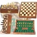 7 Folding Wooden Magnetic Chess Set