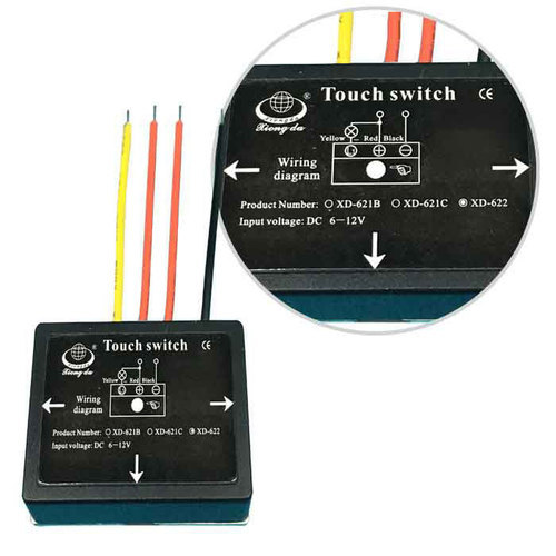 6 12vdc Touch Dimmer Switch For Bathroom Mirror Led Lamp on