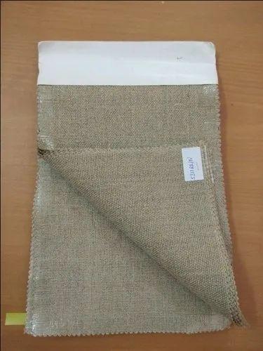 Brown Plain Linen Fabric, 100-150, For Garments | ID: 20473481088
