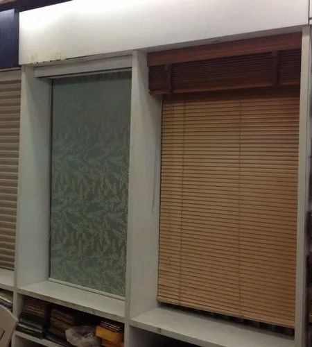 Brown Plain Wooden Blind