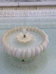 White Round Outdoor Fountain