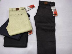 Regular Fit Small Checks Mens Trouser