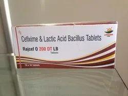 Rajcef O 200 DT Cefixime Dispersible Tablets IP