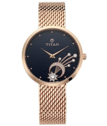 Stellar Titan Mint Dial Analog Watch For Women