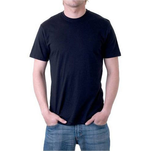 Men's Plain Cotton Round Neck T-Shirt