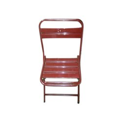 Red Iron Folding Chair