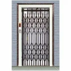 Slide Opening Black Ms Collapsible Doors, For Commercial