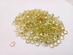 Natural Lemon Quartz Faceted Round Loose Gemstone