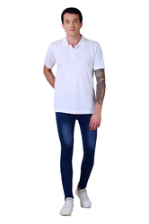 Faded JIMMY JACKSON Mens Regular Fit 100% Cotton Knitted Denim Jeans with Zeera Wash