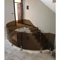 Toughened Curved Railing Glass