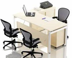 Wood Modular Computer Table