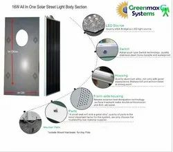 Solar Integrated Street Light Housing