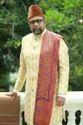 Scot Wilson Printed Silk Fabric Gudha Shervani