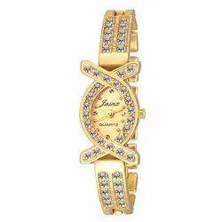 Jainx Bracelet Golden Dial Analog Watch for Women & Girls JW561