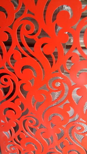 CNC Cutting Design - MS 3mm Laser Cut Grill with Material