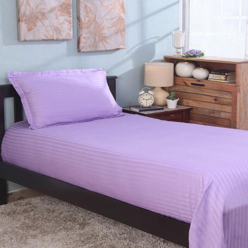 Purple Stripe Single Bed Sheet