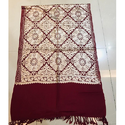 Maroon Embroidered Ladies Stole