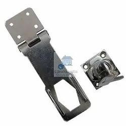 White Iron Hasp Key Lock
