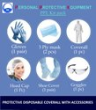 Personal Protective Equipment Kit (PPE Kit) Disposable Coverall 6 Pcs